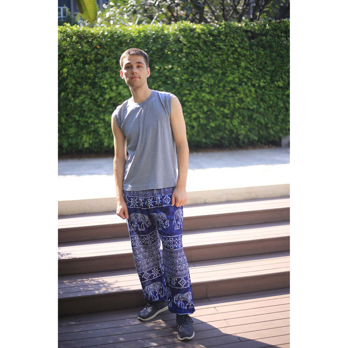 Rupestree elephant 123 men/women harem pants in Navy blue PP0004 020123 05