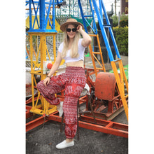 Load image into Gallery viewer, Rupestree elephant 123 women harem pants in Red PP0004 020123 04