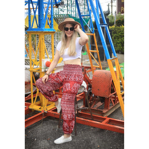 Rupestree elephant 123 women harem pants in Red PP0004 020123 04