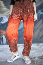 Load image into Gallery viewer, Side flower 131 women harem pants in Orange PP0004 020131 02