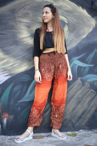 Side flower 131 women harem pants in Orange PP0004 020131 02