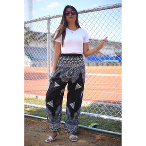 Side mandala 157 women harem pants in Black PP0004 020157 05