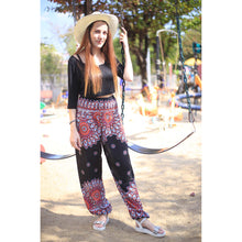 Load image into Gallery viewer, Side sunflower 141 women harem pants in Black PP0004 020141 05