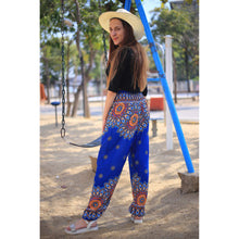 Load image into Gallery viewer, Side sunflower 141 women harem pants in Blue PP0004 020141 04