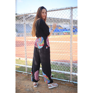 Simple mandala 165 women harem pants in Black PP0004 020165 03