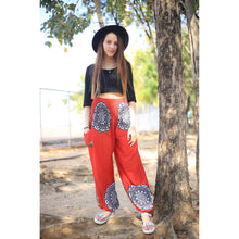 Load image into Gallery viewer, Simple mandala 165 women harem pants in Red PP0004 020165 01