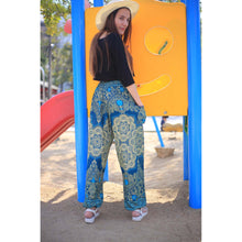 Load image into Gallery viewer, Temple flower 159 women harem pants in Ocean Blue PP0004 020159 01