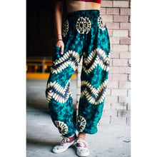 Load image into Gallery viewer, Tie dye 103 women harem pants in Green PP0004 020103 04