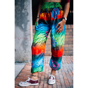 Tie dye 104 women harem pants in Blue PP0004 020104 02