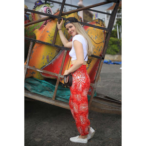 Tie dye 39 women harem pants in Red PP0004 020039 01