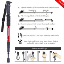 Load image into Gallery viewer, Outdoor Aluminum Walking Crutches