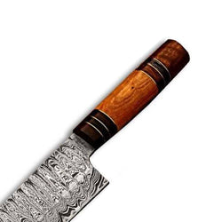 "Custom Handmade Chef Knives Set of 3 Knives made with Damascus Steel 13.0"", 12.0"" and 10.50"" - Turtle Blades"