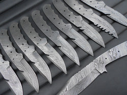 Damascus Steel Knife Supplies Blank Blades - Turtle Blades