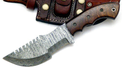 Custom Made Hunting Knife Damascus Steel Tracker knife - Turtle Blades
