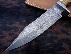 "Bowie Custom Handmade Hunting Fixed Blade Knife 11.5"" - Turtle Blades"