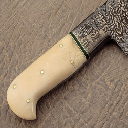 Handmade Damascus Steel Kitchen Chef Knife Beautiful Camel Bone Handle - Turtle Blades