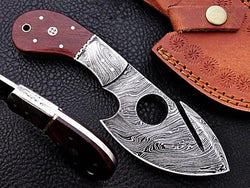 "Custom Made Hunting Skinner Knife 8"" Gut Hook 100% Handmade - Turtle Blades"