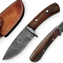 Fixed Blade Hunting Skinner Damascus Steel Knife 8.5""