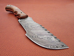 "Custom Handmade Tracker Knife Damascus Steel Twist Pattern 9.5"" Overall Size - Turtle Blades"