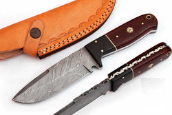 Fixed Blade Skinner knife Hunting outdoor Knife Micarta Handle - Turtle Blades