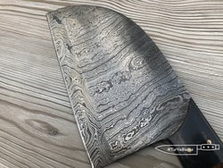 "13"" Damascus Steel Cleaver Twist Pattern 
