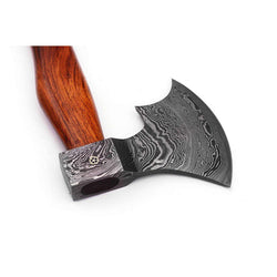 Handmade Damascus Steel Axe Cutting Edge 4.5""
