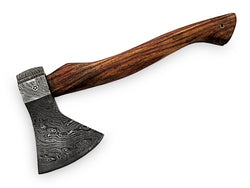 "Tomahawk Axe 18.0"" Overall Size Damascus Steel Handmade - Turtle Blades"