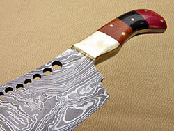 Chef Cleaver Knife Handmade Damascus Steel [ 40% Off ] - Turtle Blades