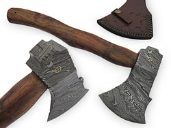 "Handmade Damascus Steel Tomahawk Axe 18.0""  Hand Forged - Turtle Blades"