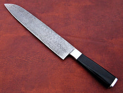 "Handmade Chef Knife Damascus Steel 17.0"" Ladder Pattern - Turtle Blades"