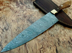 Handmade Damascus Steel Kitchen Chef Knife [ 50% Off ] - Turtle Blades