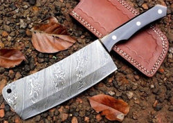 [ 35% Off ] Damascus Steel Cleaver Knife meat chopping knife - Turtle Blades