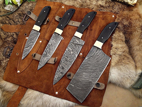Custom Chef Knives Set of 4 Pcs - Turtle Blades