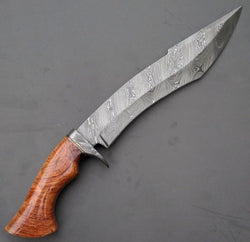 "Custom Handmade Hunting Bowie Knife 15"" Damascus Steel"