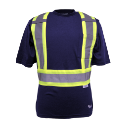 Viking Safety Cotton Lined Hi-Viz Shirt