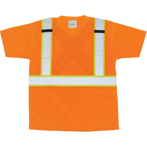 Zenith Hi-Viz Birdseye Safety Shirt Orange