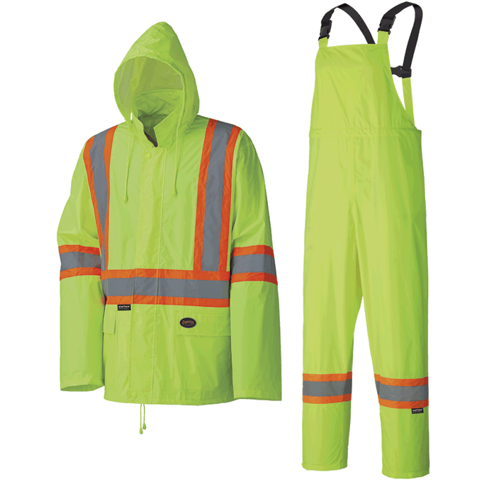 Poly/PVC Lightweight Safety Rainsuit (Various Colors)