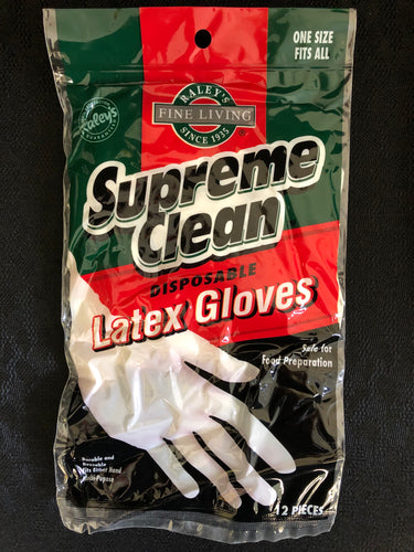 Supreme Clean Latex Gloves 12pk