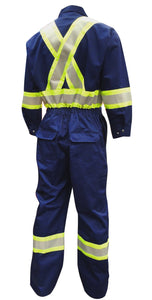 Viking Poly/Cotton Coveralls w/ reflective stripes