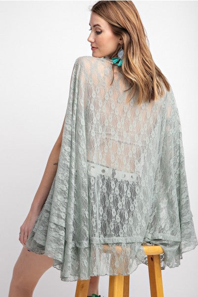 Easel Flyway Lace Tunic
