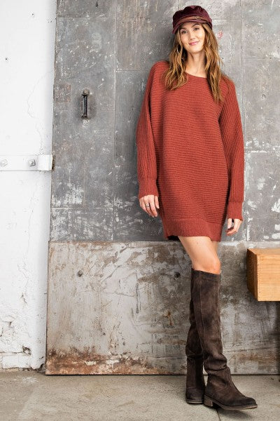 Straight Chilling Sweater Dress