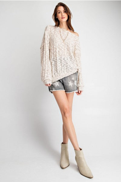 Textured Boat Neck Tunic