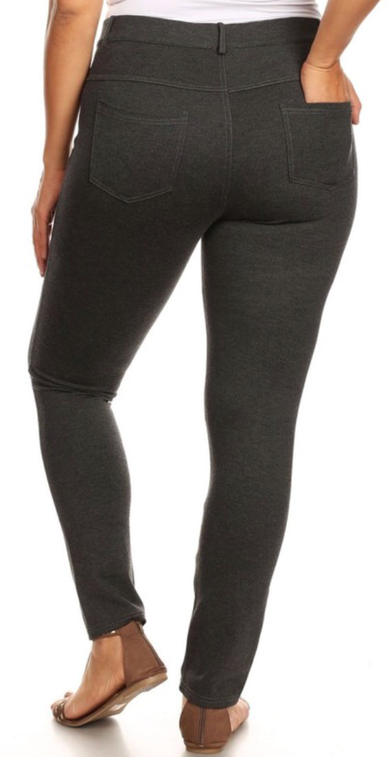 Charcoal Jegging Pant