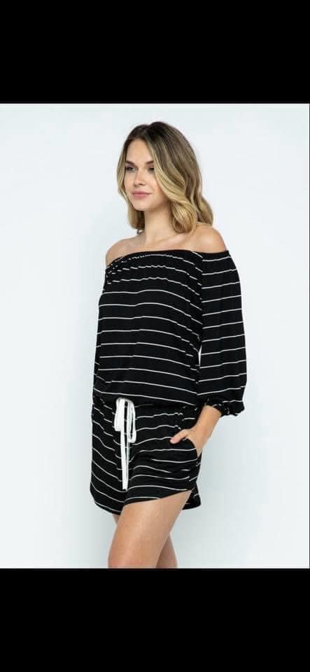 Striped Sally Romper