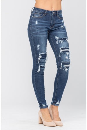 PATCHED DESTROYED SKINNY JUDY BLUE