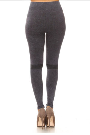 Yelete Mineral Washed Textured Leggings