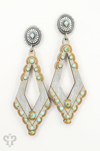 Scallop Concho Post Earring