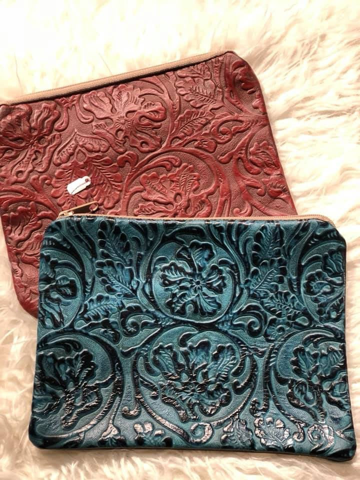 Genuine Tooled Leather Bags
