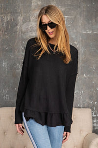 Thermal Ruffled Tunic