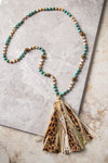 Feelin' Fierce Leopard Tassel Necklace